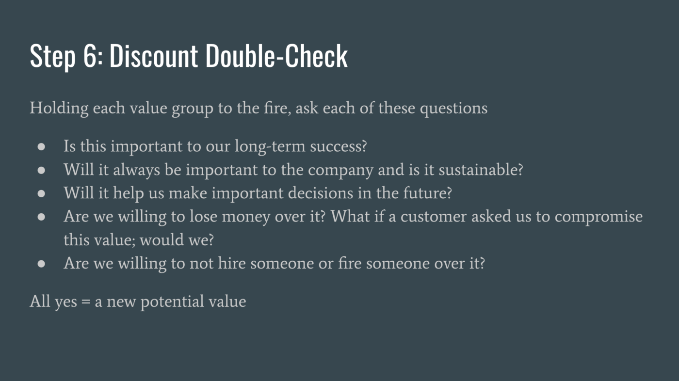 Step6 Discount Double Check