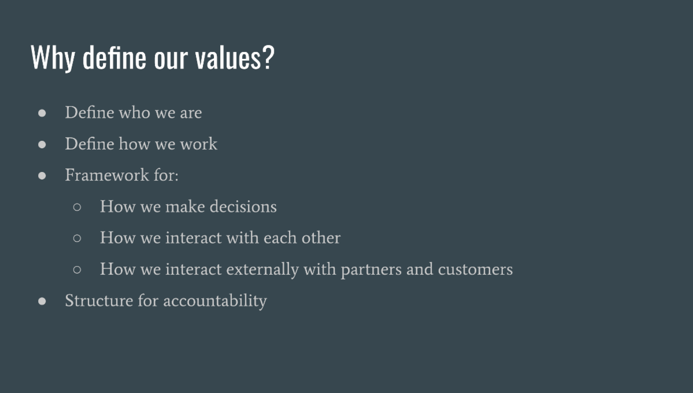 Why Define Our Values 2
